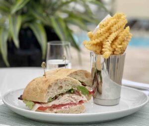 Ambassador Grill, Palm Beach - Sandwich & Fries